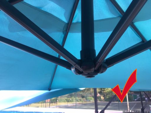 8. Once in position you have successfully completed erecting the umbrella.